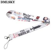 DMLSKY TV Show Greys Anatomy Lanyard Phone Rope Keychains for Keys ID Card Cartoon Lanyards For Men Women M2856