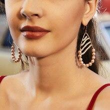 natural shell pearl earrings  handmade earrings fashion jewelry indian  pearl  luxury trendy  statement earrings  bohemian цена