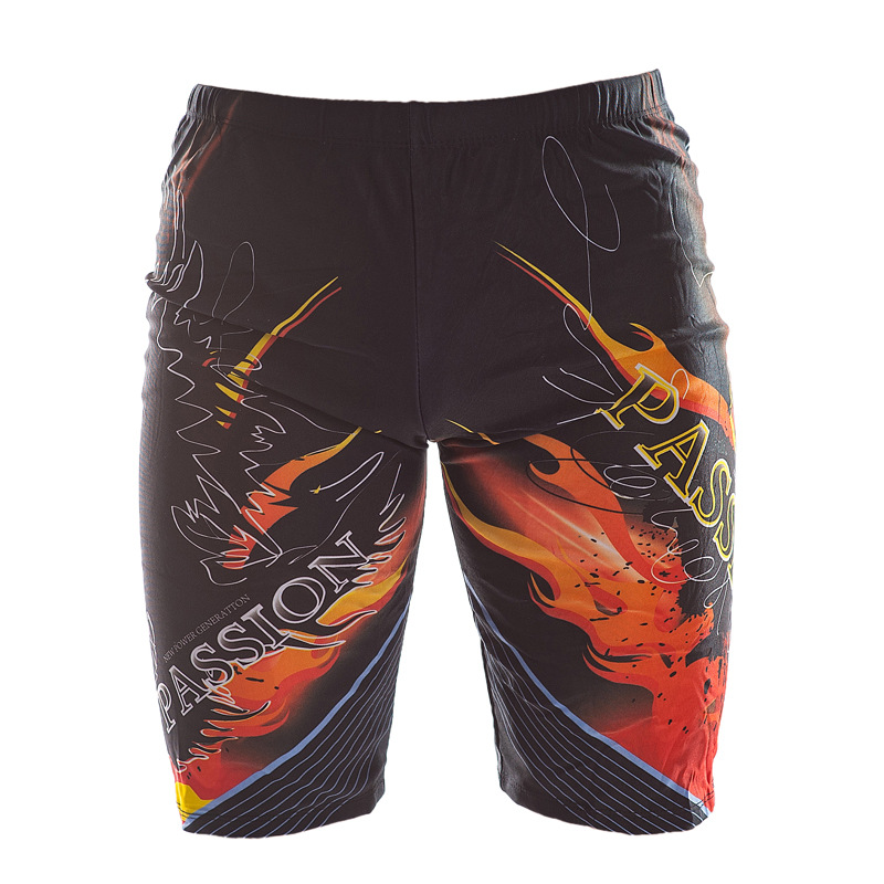 Summer MEN'S Swimming Trunks Fashion Ultra-stretch Beach Adult Printed Quick-Dry Swimming Sports Short Swimming Trunks