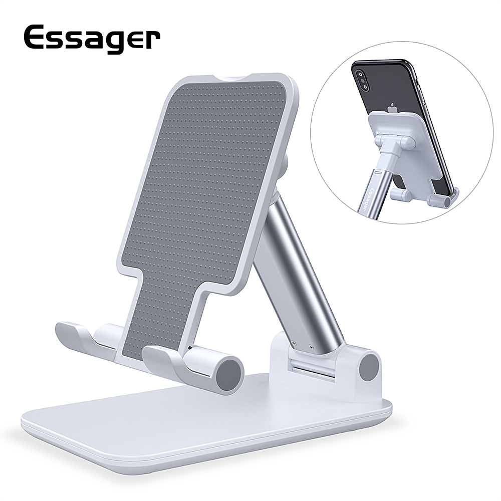 Essager Universal Adjustable Mobile Phone Holder Non Slip Mobile Phone Holder Desktop Metal Tablet Stand For IPhone IPad Xiaomi