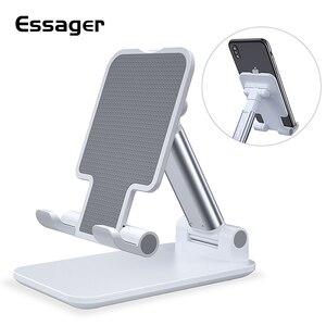 Image 1 - Essager Universal Einstellbare Handy Halter Non Slip Handy Halter Desktop Metall Tablet Ständer Für iPhone iPad Xiaomi