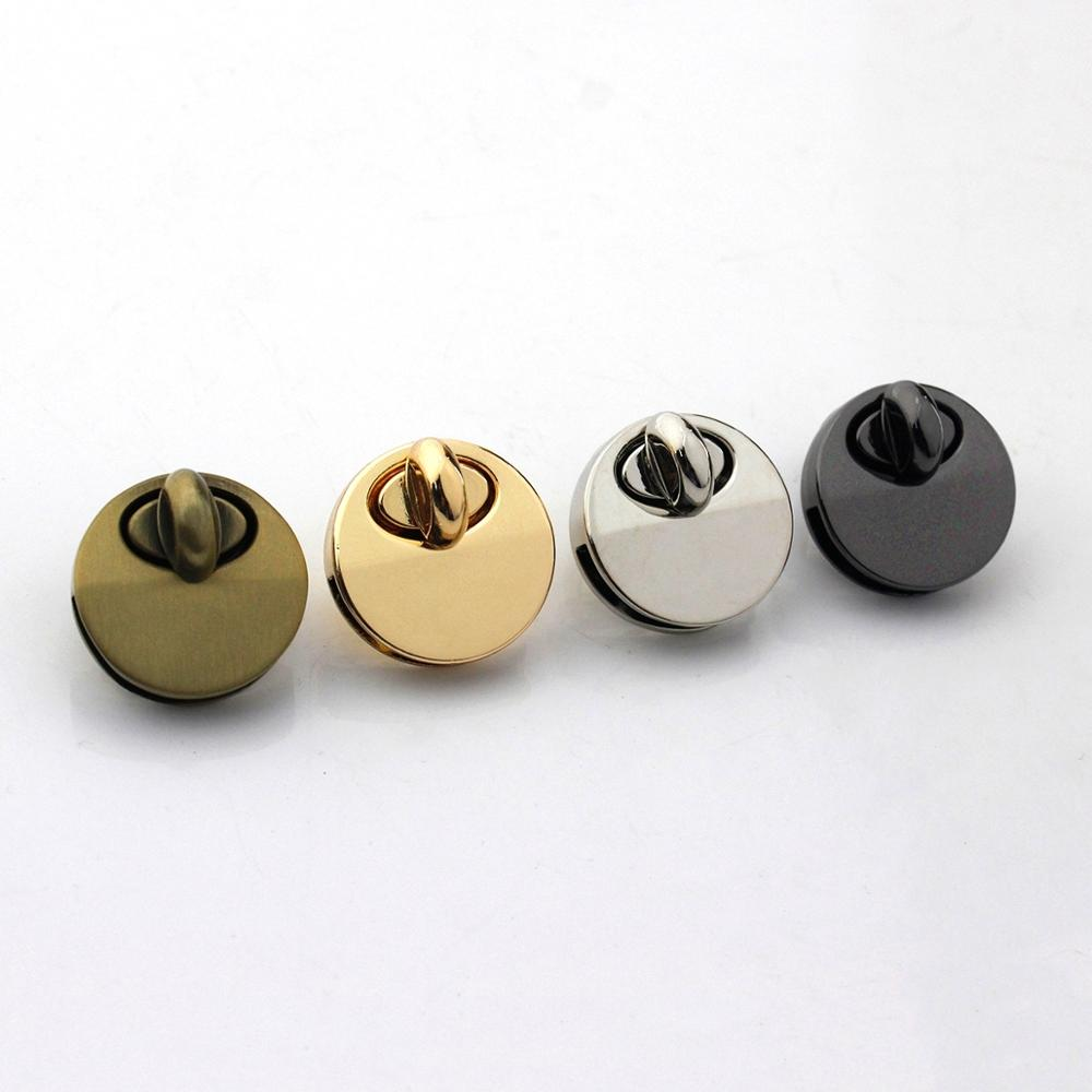 1pcs Metal Round Shape Bag Turn Lock Twist Lock Clasp Leather Craft Women Bag Handbag Shoulder Bag Purse DIY Hardware