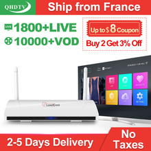 Quad-Core TV Box Android 4.4 IPTV Set Top Box 1G 8G with 1300+ IPTV Arabic French Europe IPTV Subscription 1 Year QHDTV Account android 6 0 smart tv box octa core streaming media player 4k h 265 iptv set top box with 1 year free qhdtv iptv europe arabic uk