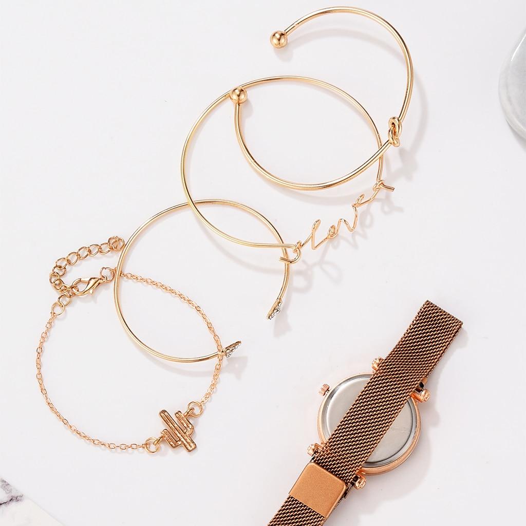 5pcs Set Luxury Women Watches Magnetic Starry Sky Female Clock Quartz Wristwatch Fashion Ladies Wrist Watch relogio feminino 4