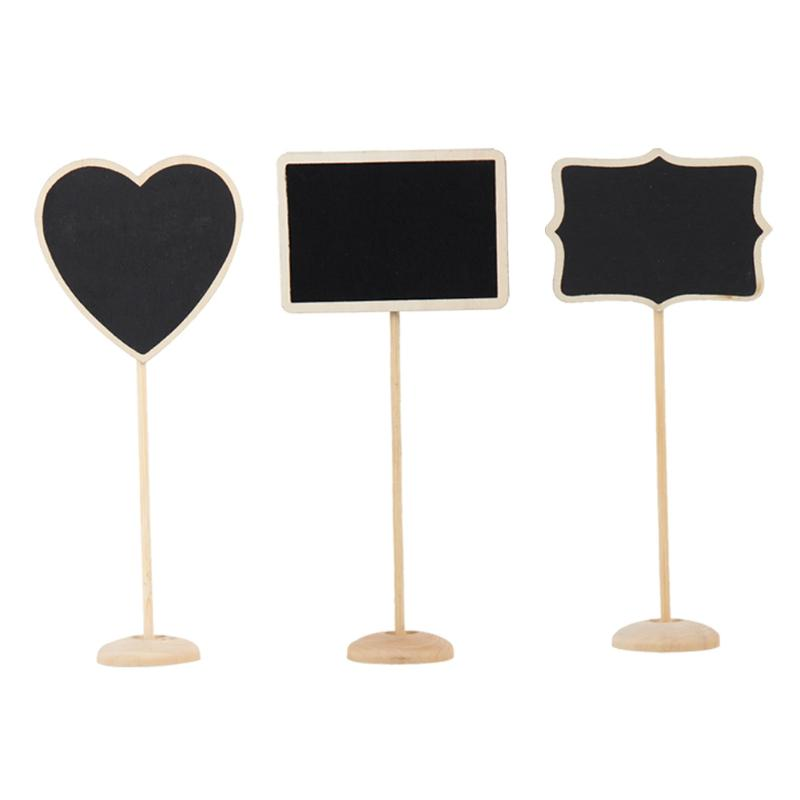 12pcs Mini Retangle Chalkboard Blackboard Stand Wedding Lolly Party Tag