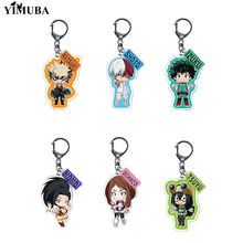 2020 New My Hero Academia Keychain Boku No Hero Academia Two Side Acrylic Pendant Key Chain Ring Anime Accessories Otaku Jewelry