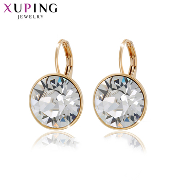 Xuping Jewelry Lovely Fashion Crystals from Swarovski Colorful Earrings Charm for Women Valentine's Day New Year Gift M67-20369
