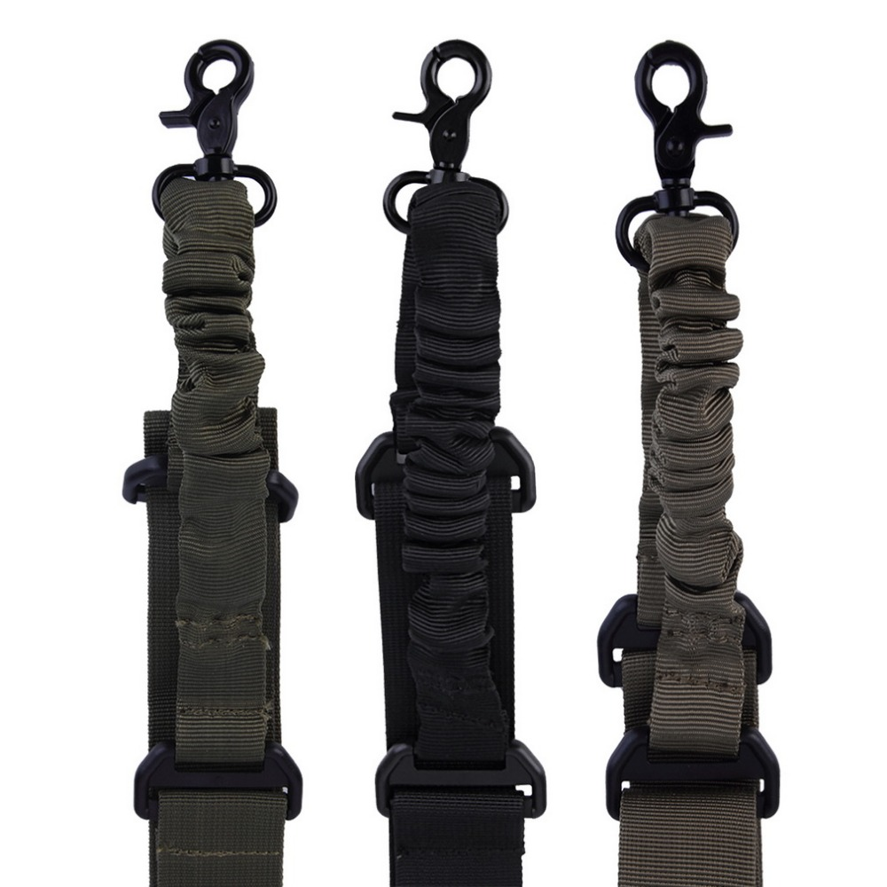 Multi-function Nylon Adjustable Tactical Single Point Bungee Rifle Gun Airsoft Sling Hunting Gun Strap Shooting Accessories