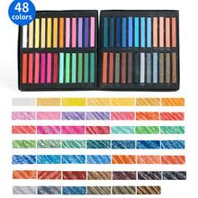 48 kolorów malowanie kredek miękki pastelowy rysunek artystyczny zestaw włosów kreda kolorowa kredka szczotka artykuły papiernicze dla uczniów dostaw sztuki tanie tanio Other Pastelowe oleju