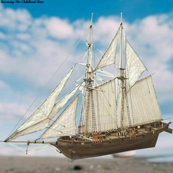 1 Set 1:100 Halcon Wooden Sailing Boat Model DIY Kit Ship Assembly Decoration Gift 1