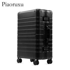 "Image 3 - 20""24""28"" inch 100% aluminium rolling luggage travel suitcase aluminum spinner trolley bag on wheel"