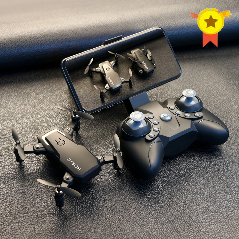 Foldable Mini Drone With RC Quadrocopter With Camera HD Quad-Counter With High Hold RC Helicopter VS E61 HS210 LF606 S9HW E016H(China)