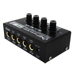 Image 2 - ABKT Lynepauaio Headphone Splitter 1 Input 4 Out Headphone Speaker Splitter Comparator Output Independent Volume Adjustment With