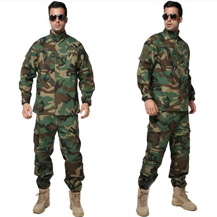 Calças de jaqueta dos homens do exército dos eua terno soldado combate camisas acu selva camuflagem cp tático roupas airsoft disfarce uniforme militar
