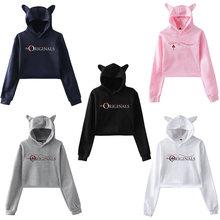 Tv the vampire diaries cool printed hoodie kpop women sweatshirt