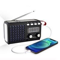 2021 أحدث راديو الطوارئ قابلة للشحن المحمولة راديو FM AM SW1-4 مع سمّاعات بلوتوث قرص USB أو TF بطاقة MP3 مشغل موسيقى