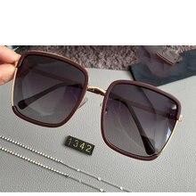 Moda clássica de luxo de alta qualidade design da marca senhoras óculos de sol quadrados senhoras cor azul lentes uv400