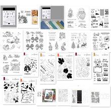 Natal metal corte dados e selos para scrapbooking prática hands-on diy álbum cartão feito à mão