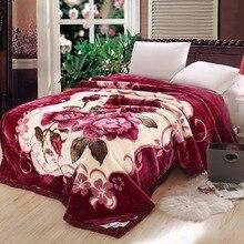 VESCOVO queen size Flannel Fleece Throw Blanket Soft Cashmere Blanket king size Warm quilt Bedspread 220*240