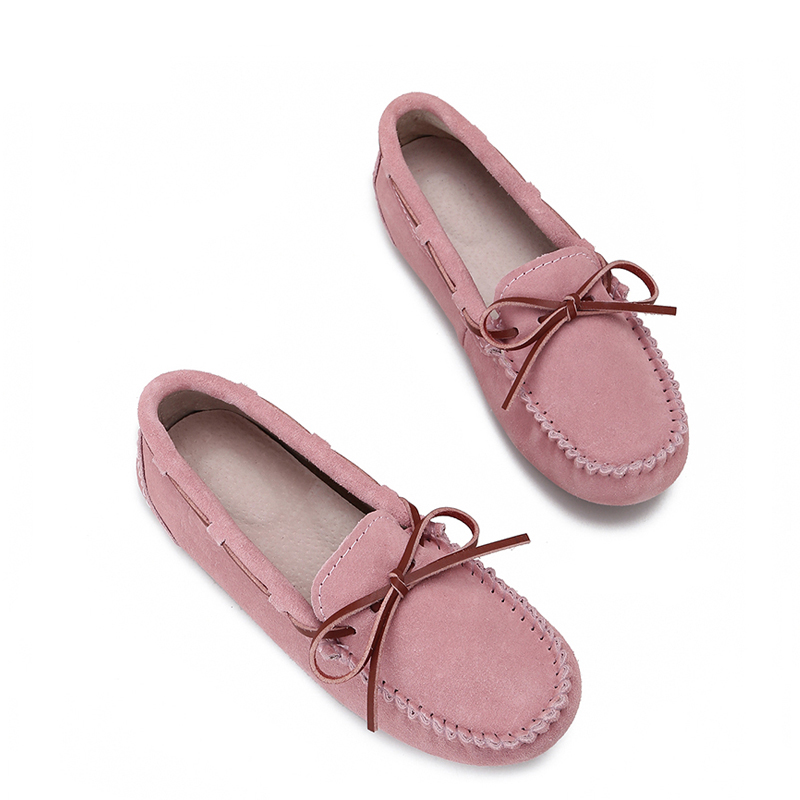 Boat Shoes Sneakers Moccasins Spring Women Flats Autumn Slip-On Genuine-Leather Ladies