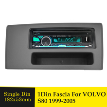 1Din Car Radio Fascia Frame For VOLVO S80 1999-2005 Adapter Face Facia Panel Stereo Audio Bezel Dash Mount DVD Player Plate Kit