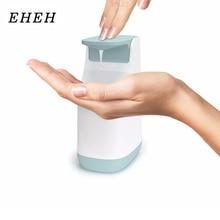 EHEH 350ml Liquid Soap Dispenser Compact Soap Pump Non-Slip Base Handy Fill-Level Non-Drip Nozzle Bathroom Kitchen Space-Saving