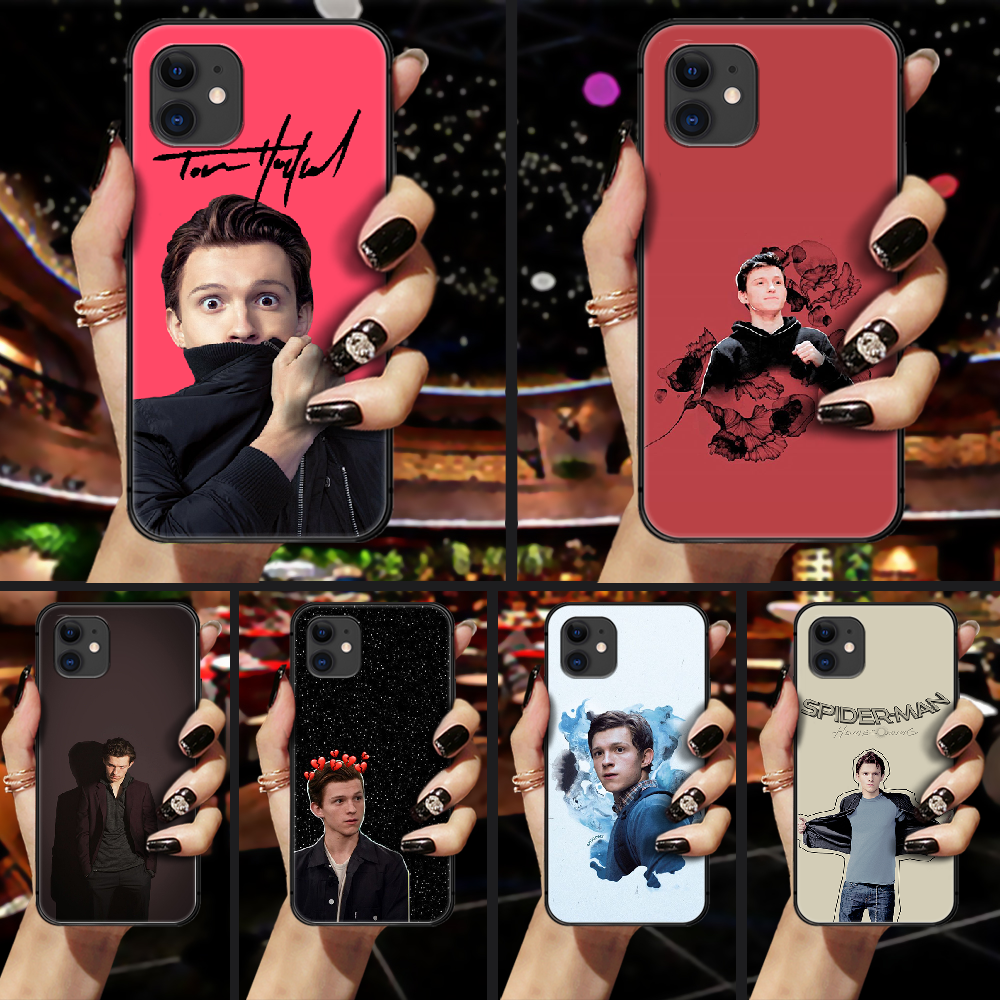 Tom Holland Phone Case Cover Hull For iphone 5 5s se 2 6 6s 7 8 plus X XS XR 11 PRO MAX black cell cover silicone shell pretty