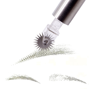 Image 4 - 500pcs/lot Disposable microblading needles Tattoo Roller Gear Needles Blades For Microblading Fog Eyebrow Semi Permanent Makeup