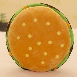 Image 5 - Peluş oyuncaklar hamburger şekli yastık yaratıcı komik peluş oyuncak bebek yastık çocuk hediye gerçekçi hamburger doldurulmuş oyuncaklar