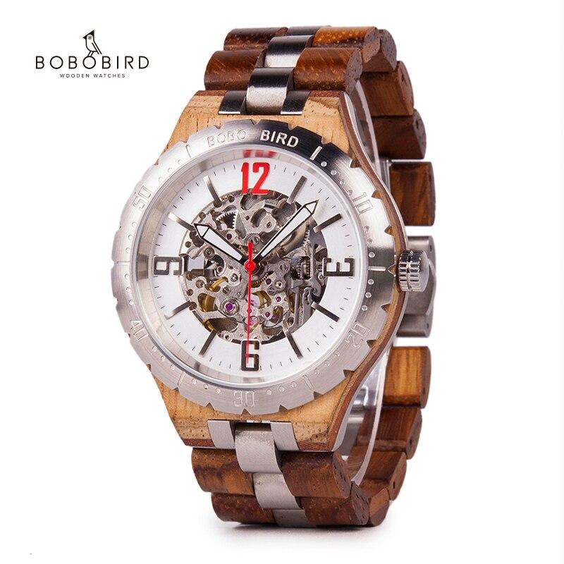 BOBO BIRD Mechanical Wristwatches Men's Watch Waterproof Luxury Timepiece relogio masculino Customize Clock Male Watches C-uQ29