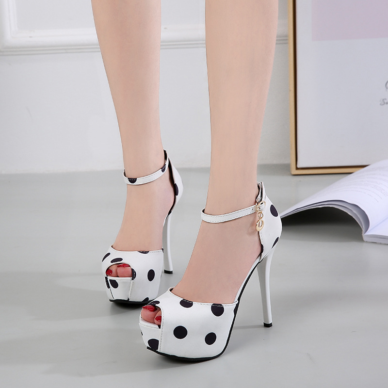 Women Sandals Pumps Fashion Sweet New Summer Super High (8cm-up) Silk 12cm/14CM High Heels Peep-toe Ladies Party Female Shoes
