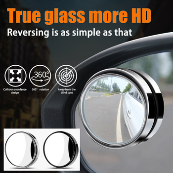1x Car HD Rear View Mirror Wide Angle Round Convex Mirror For Mercedes Benz W210 W211 W203 W208 W209 W169 AMG CLK image