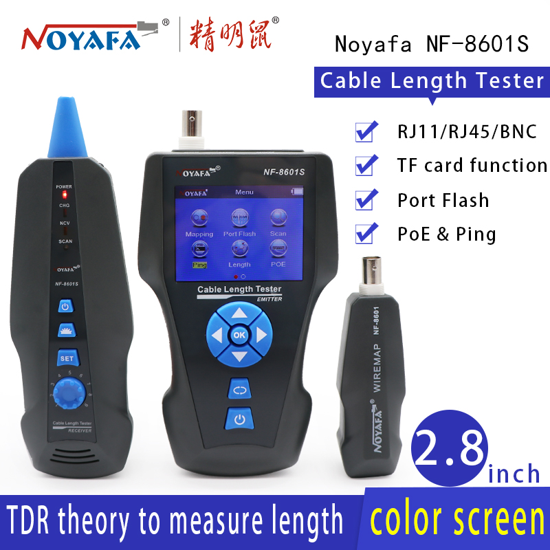 NOYAFA NF-8601S  NEW TDR cable length tester wire Tracker test break point of cable length POE &PING tracker