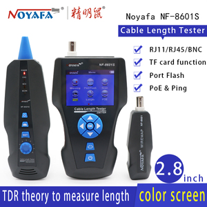 Image 1 - NOYAFA NF 8601S NUOVO TDR lunghezza del cavo tester wire Tracker di prova punto di rottura della lunghezza del cavo POE & PING tracker