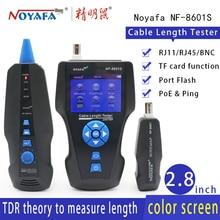 NOYAFA NF 8601S yeni TDR kablo uzunluğu test cihazı tel Tracker test kırılma noktası kablo uzunluğu POE & PING izci