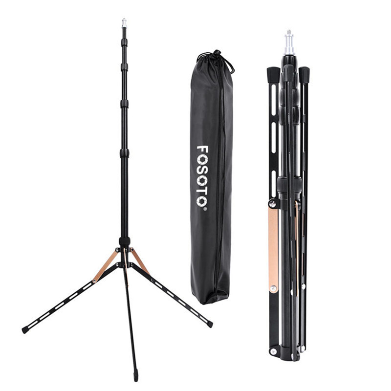 Fosoto FT-190B Gold Led Light Tripod Stand Bag Head Softbox 2m For Photo Studio Photographic Lighting Flash Umbrellas Reflector