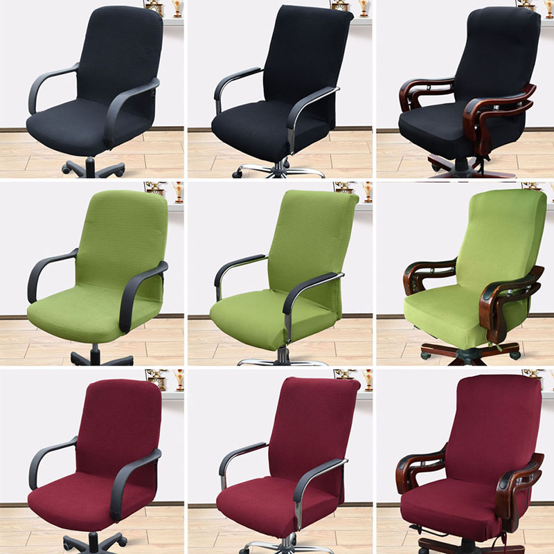 Image 5 - Office Stretch Spandex Chair Covers Anti dirty Computer Seat Chair Cover Arm Chair Cover Elasticity Rotating Lift Dust CoverChair Cover   -
