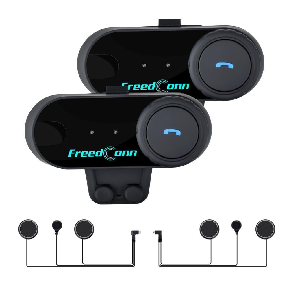 2 Pcs T-COM VB Bluetooth Helmet Intercom 2 Riders 800m Motorcycle Wireless Intercoms Headset FM Radio Helmet Interphone