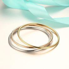 Vnox-pulsera delgada clásica de acero inoxidable para mujer, adornos sencillos y elegantes para pulsera de puño para mujer