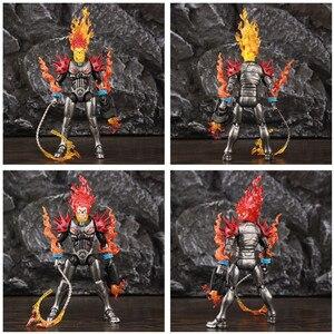 "Image 4 - オリジナルミリリットル伝説宇宙ゴーストライダー 6 ""アクションフィギュア火災鞭なしバイクから車両セットライダーシリーズおもちゃ人形"