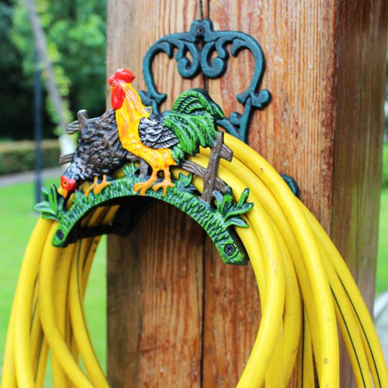 Casinlog Support mural pour tuyau darrosage de jardin avec enrouleur de c/âble de rangement pour cintre de tuyau de 20 m