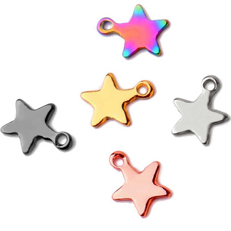 50 sztuk/partia 2019 najlepiej sprzedający się ze stali nierdzewnej gwiazdy małe wisiorek – biżuteria wyrobu mężczyzn kobiety akcesoria hurtownie