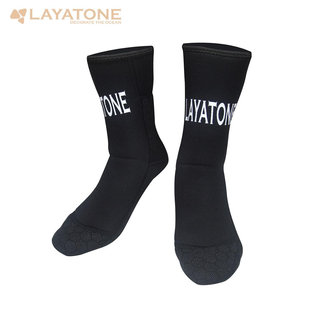 LayaTone Diving Socks Adults 3mm Neoprene Socks Beach Water Wetsuit Socks Non-Silp Spearfishing Boots Shoes Snorkeling Socks Men