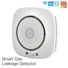 WiFi Smart Gas Leakage Fire Security Detector Gas Combustible Alarm Sensor Smart Life Tuya App Control Home Security System EU P