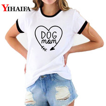 Fashion Women 3D Print T Shirts Dog Mom Letters Graphic Tees Funny Lady Harajuku Short Sleeve White Casual Unisex Tops