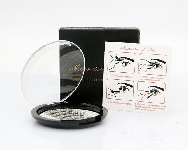 MB Magnetic Eyelashes With 5 Magnets 3D False Lashes Natural For Mink Eyelashes Extension Long Reusable faux cils magnetique 22P 4