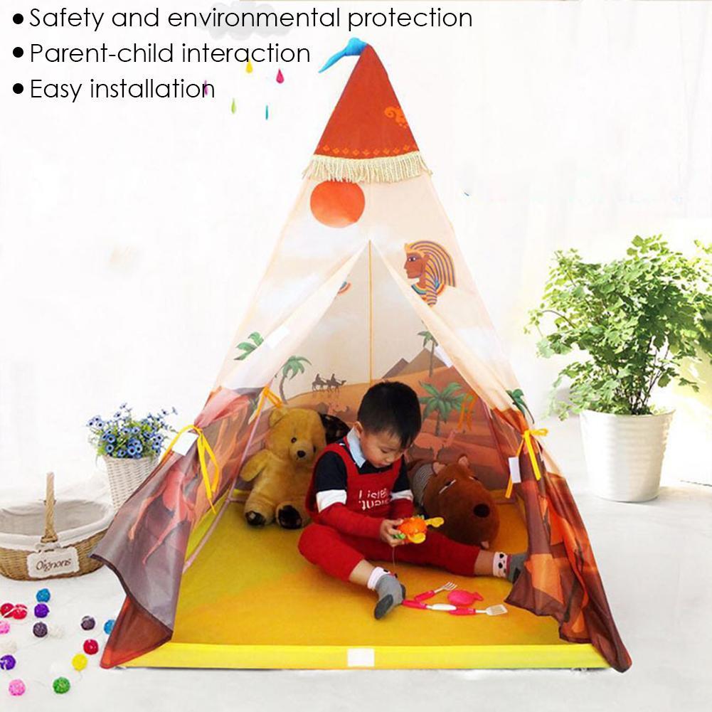 Enfants jouant tente intérieure semblant jouer jeu maison Parent-enfant Puzzle jouet tente pour enfant en bas âge