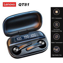 Lenovo QT81 Bluetooth 5.1 TWS Earbuds True Wireless Headphones Touch Control with 1200mAh Charging Box Sweatproof Sports Headset