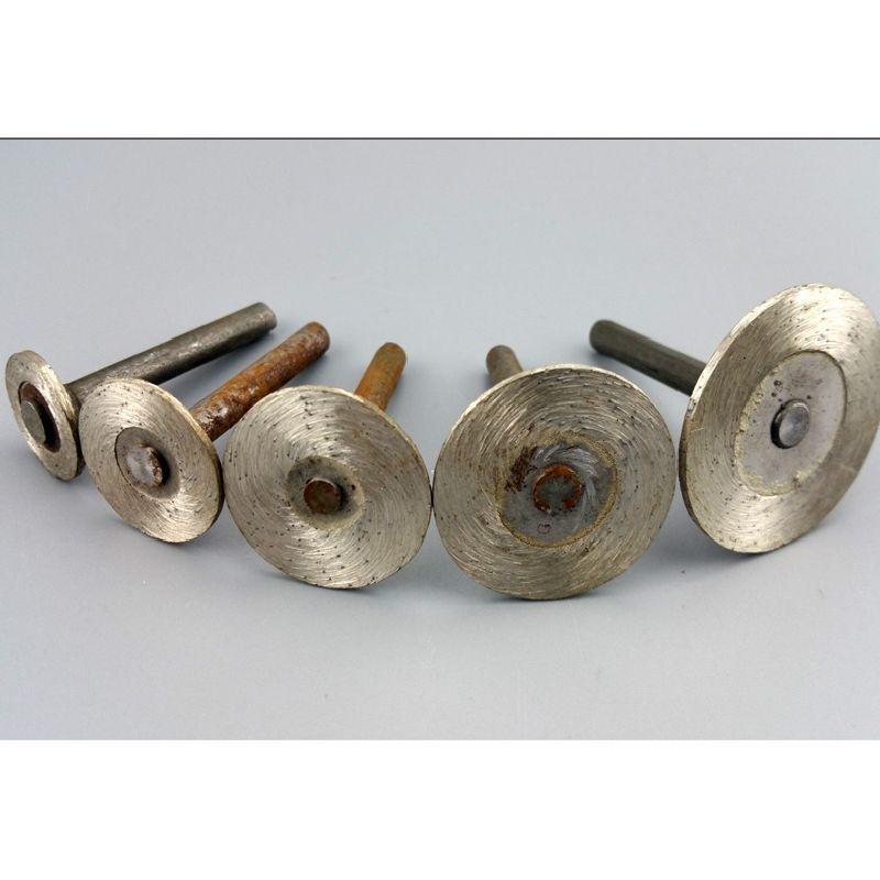 5pcs 15-40mm 6mm gambo sinterizzato diamante lama da taglio lavorazione del legno disco da taglio scultura di pietra testa di macinazione pietra lettere