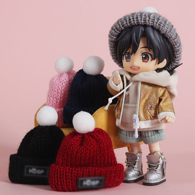 Ob11 doll sweater hat scarf round Molly <font><b>1/8</b></font> <font><b>bjd</b></font> jd doll P9 solid body GSC doll hat scarf doll accessories image